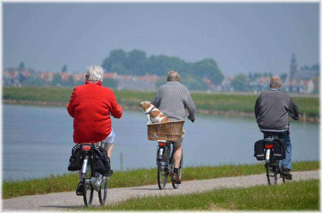 Grupo de idosos saudáveis